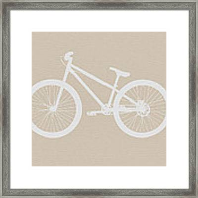 Bicycle Brown Poster Framed Print