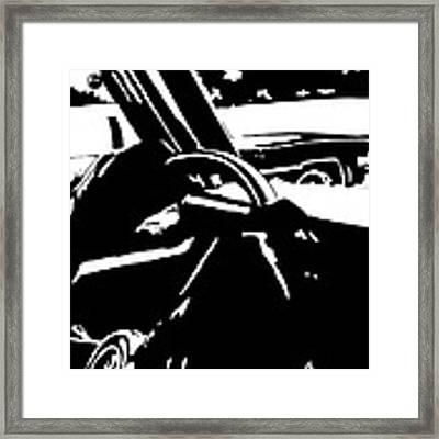 Car Passing Framed Print