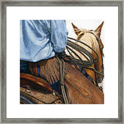 Chaps Framed Print by Pat Erickson