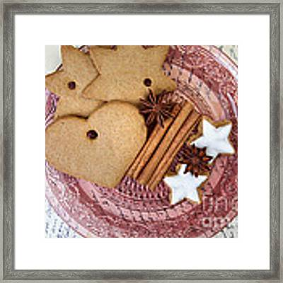 Christmas Gingerbread Framed Print