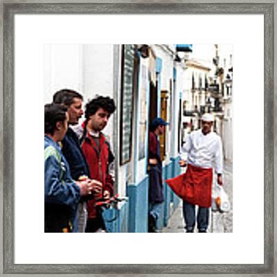 Cook And The Corner Boys Framed Print by Lorraine Devon Wilke