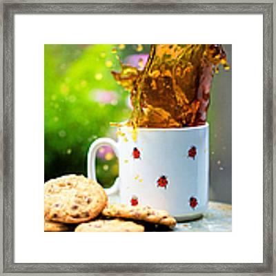 Cookie Splash Framed Print by Kim Fearheiley