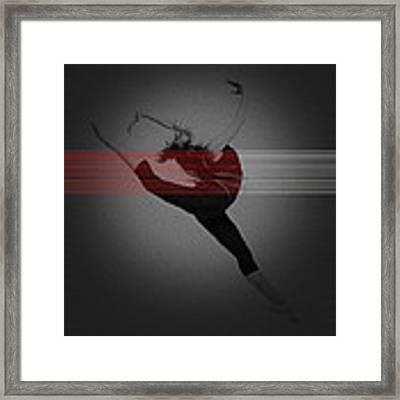 Dancer Framed Print by Naxart Studio