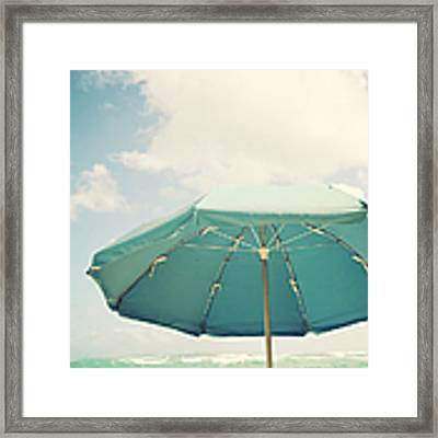 Day At The Beach Framed Print by Kim Fearheiley