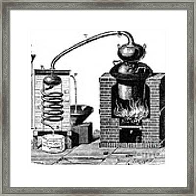 Distillation By Means Of A Metallic Framed Print by Science Source