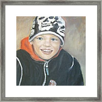 Finnish Boy Commission Framed Print by Katalin Luczay