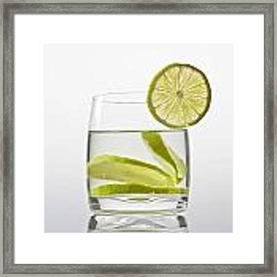 Glass With Lemonade Framed Print by Joana Kruse