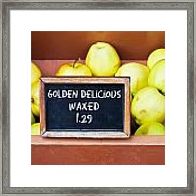 Golden Delciious Framed Print by Tom Gowanlock