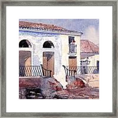 House In Santiago Framed Print