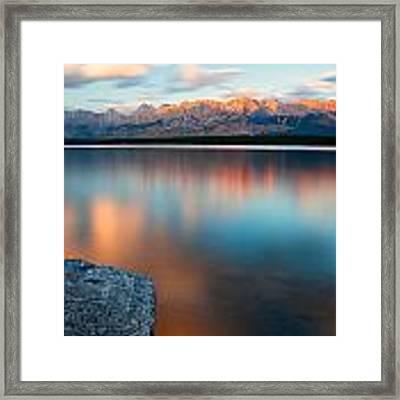 Lake Evening 1 Framed Print by David Buhler