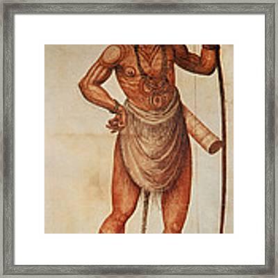 Native American Man C1590 Framed Print