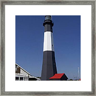 One Strip Lighthouse Framed Print by Ralph Jones