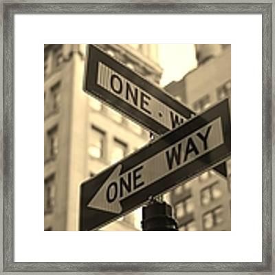 One Way, Manhattan Framed Print by Photo by Yohsuke Ikebuchi