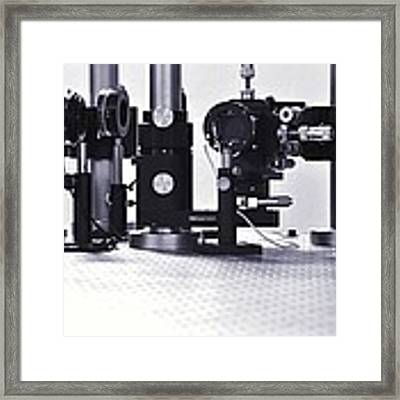 Optical Science Equipment Framed Print