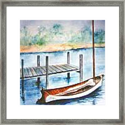 Pea Pod Boat Framed Print by Lynn Buettner
