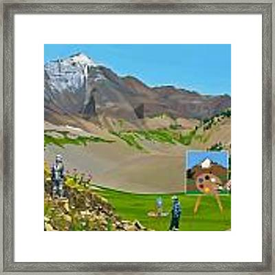 Plein Air Robot Framed Print by Scott Listfield