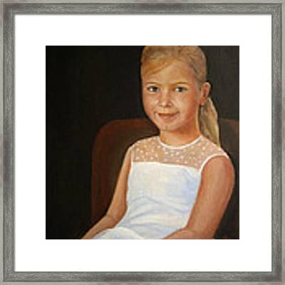 Portrait Of A Girl Framed Print by Katalin Luczay