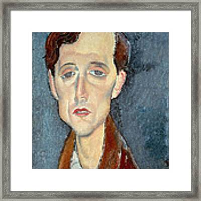 Portrait Of Franz Hellens Framed Print