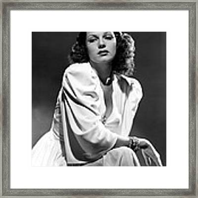 Rita Hayworth, Columbia Pictures, 1939 Framed Print by Everett