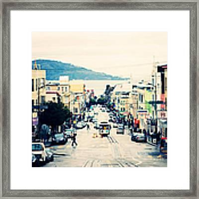 San Francisco Powell Street Framed Print by Kim Fearheiley