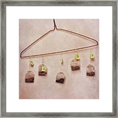 Tea Bags Framed Print