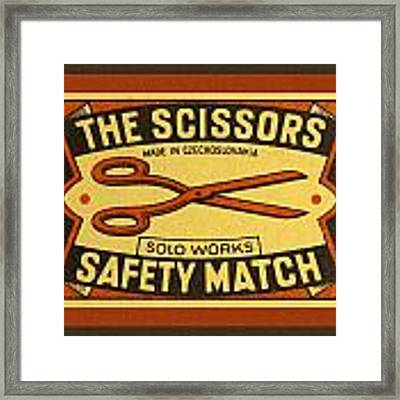 The Scissors Safety Match Framed Print by Carol Leigh