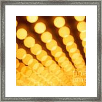 Theater Lights In Rows Defocused Framed Print