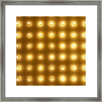 Theater Lights In Rows Framed Print