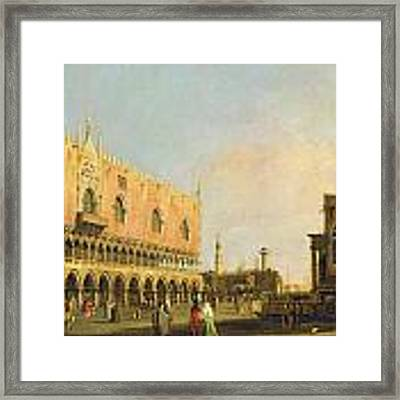 View Of The Piazzetta San Marco Looking South Framed Print