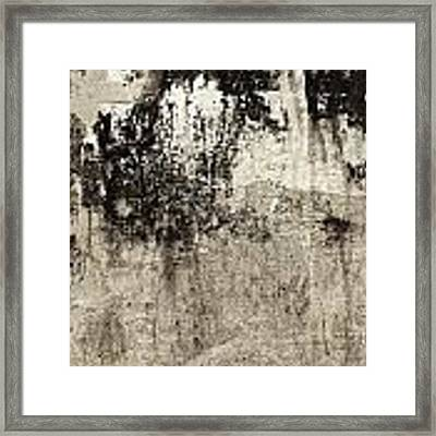 Wall Texture Number 9 Framed Print