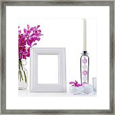 White Picture Frame In Decoration Framed Print