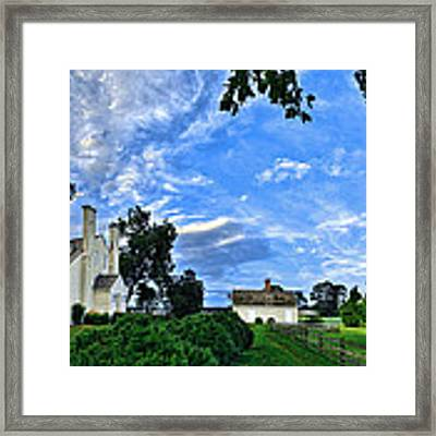 Windsor Castle Smithfield Va Framed Print by Williams-Cairns Photography LLC