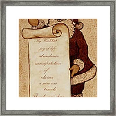 Wishlist For Santa Claus  Framed Print