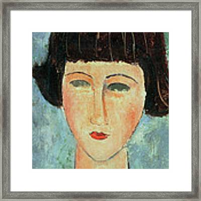 Young Brunette Framed Print