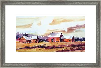 Vermillion View Framed Print by Art Scholz