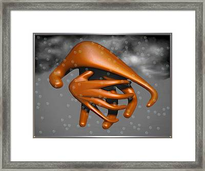 ' Trouble Clouds ' Framed Print