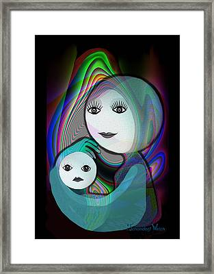 044 - Full Moon  Mother And Child   Framed Print