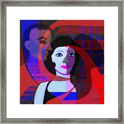 188 - Enigma   Framed Print by Irmgard Schoendorf Welch