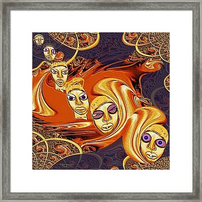 190 - Arrival Of The Demons ... Framed Print by Irmgard Schoendorf Welch