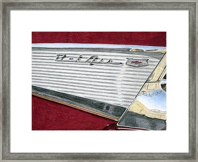 1957 Chevrolet Bel Air Convertible Framed Print by Rob De Vries