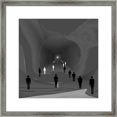 249 - The Light At The End Of The Tunnel   Framed Print by Irmgard Schoendorf Welch