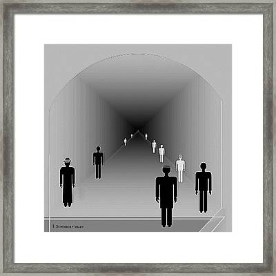 251 - Is There Hope  At The End Of The Tunnel    Framed Print by Irmgard Schoendorf Welch