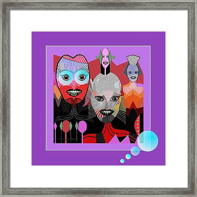 384 - Crazy Dollies Smiling Framed Print by Irmgard Schoendorf Welch
