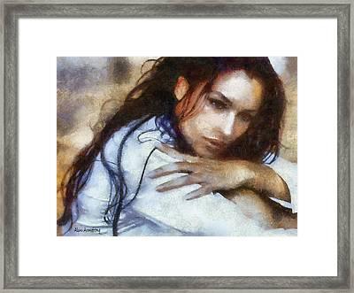 # 6 Monica Bellucci Portrait Framed Print