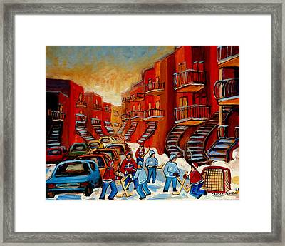 A Beautiful Day For The Game Framed Print by Carole Spandau