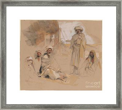 A Bedouin Encampment At Gebel Tor In The Sinai Desert Framed Print by MotionAge Designs