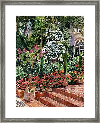 A Garden Approach Framed Print by David Lloyd Glover