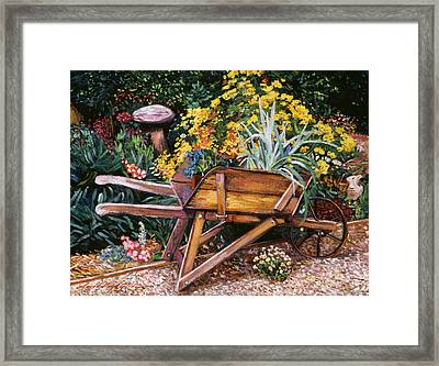 A Gardener's Helper Framed Print by David Lloyd Glover