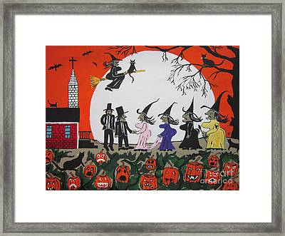 A Halloween Wedding Framed Print