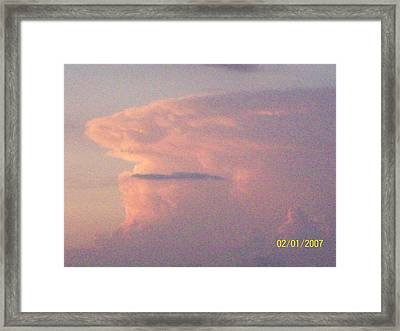 A Natural Face Cloud Framed Print